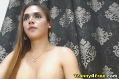 Naughty tranny masturbating hard