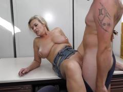Threesome with trashy german mom