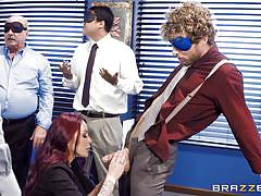 milf, redhead, deepthroat, gangbang, busty, blindfolded, office sex, tattooed, pussy eating, big tits at work, brazzers, monique alexander, michael vegas