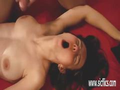 Fisting her cavernous ruined young pussy