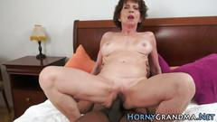Interracial sex session with some horny old women