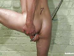 gay, masturbation, fucking machine, shower, anal, dildo, orgasm, butt machine boys, kink men, kyle sparks