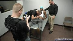 Police hunks punishing a black felony for his misdeeds