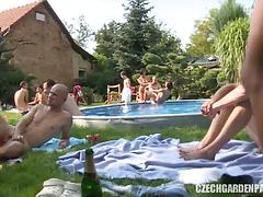 Private czech great sex garden party