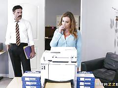 heels, babe, uniform, office, busty, pussy licking, fingering, big tits at work, brazzers, natasha nice, charles dera