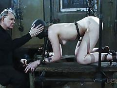 small tits, bdsm, babe, whipping, domination, brunette, masked, metal hook, device bondage, infernal restraints, sierra cirque