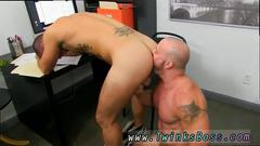 Gay hunks with big dicks want some sex in the office