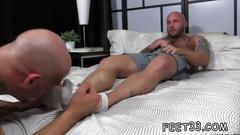 Two bald gay hunks are open for toe sucking