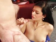 Fakeshooting shy secretary convinced to fuck ugly guy on fake casting