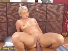 Big ass babe gets slippery fucked