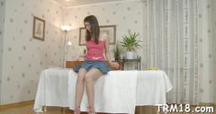Massaging beautys smooth ass teen clip 2