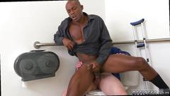 Black man is ready to bang this white stud