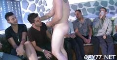 Gay party in the club with some cock hungry boys