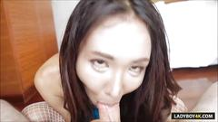 Sexy thai ladyboy arin sensual handjob