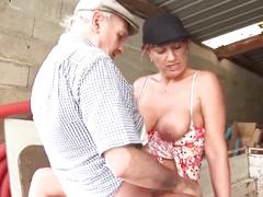 French prostitute with papy voyeur.