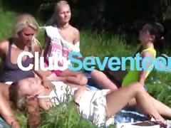 Kinky teen gets nailed by a lucky voyeur
