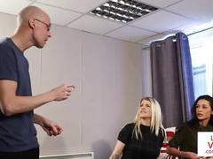 British femdom voyeurs sissify a peepingtom