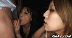 Hot fellatio from skinny japanese clip movie 1