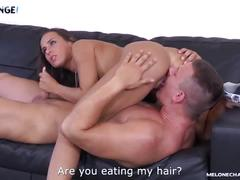 Melonechallenge threesome for mea melone with two young guys who both fail
