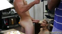 Blonde russian milf shower fucking your girl in my pawnshop