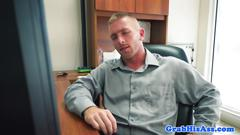 Cocksucking office stud assfucked pov