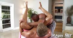 Raucous massage with gays blowjob movie 2