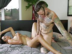Sweet and horny shemale gets ass fucked