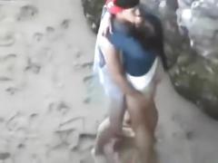 Amateur couple caught fucking in public!