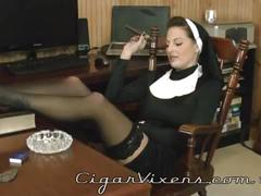stockings, tits, boobs, smoking, ass, milf, fingering, mature, squirt, masturbation, lingerie, masturbate, fisting, cigar, nun, priest, jilling, cigars