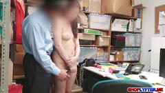 Naiomi mae caught by the  horny cop and fucked