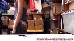 Analized teen shoplifter