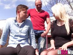 Bisex couple sharing fucking with guy