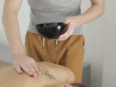 Kimberly enjoys oil massage and sex