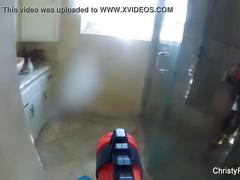 Water gun attack on christy mack