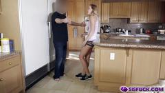 Stepsister giving her brother a best deep blowjob ever