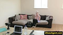 Bigtitted casting brit facialed after rimjob