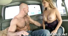Wild cock riding inside a car video segment 2