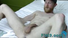 Horny amateur twink gets an anal gaping and fisting on the bed