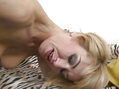 milf, blonde, stockings, blowjob, from behind, ball sucking, mature nl, eliena