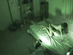 Fucking an asian babe's hairy cunt on spycam