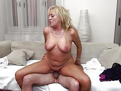 Mature blonde gets attracted to hard dick