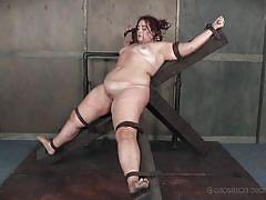 milf, bdsm, domination, crying, vibrator, tied up, nipple pinching, fat, bbw, device bondage, real time bondage, mimosa