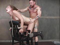 milf, blonde, threesome, bondage, bdsm, boots, deepthroat, squirt, from behind, sexually broken, matt williams, mona wales, sergeant miles