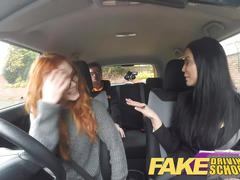 milfs, pov, driving, man, school, young, young busty, young man, young school