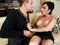 Inked granny susan wild loves young cock