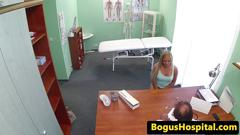Real euro patient creampied during checkup