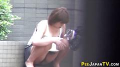 Kinky japanese urinating