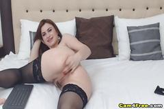 Hot and wild pussy masturbation of horny babe