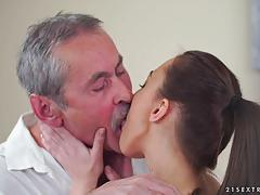 Grandpa slams his dick into katy rose