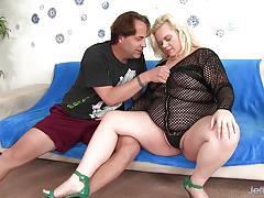 Blonde plumper blond dream takes big dick